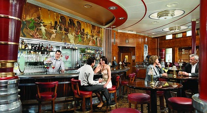 Lounge - Bar On Board the Queen Mary - Copyright: The Queen Mary Hotel.